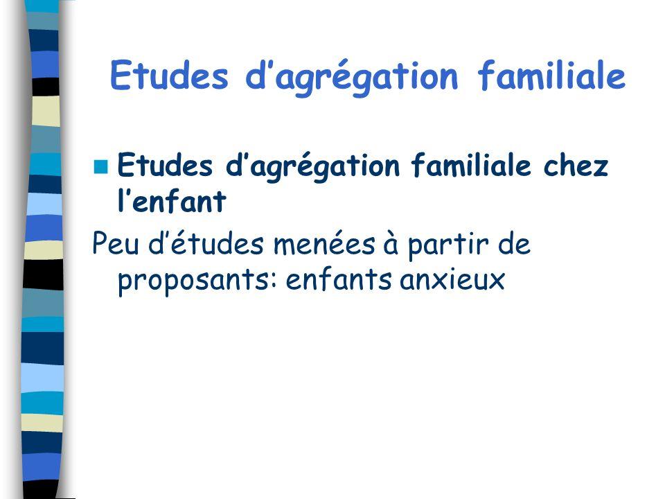 Etudes d'agrégation familiale