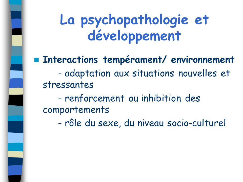 La psychopathologie et développement
