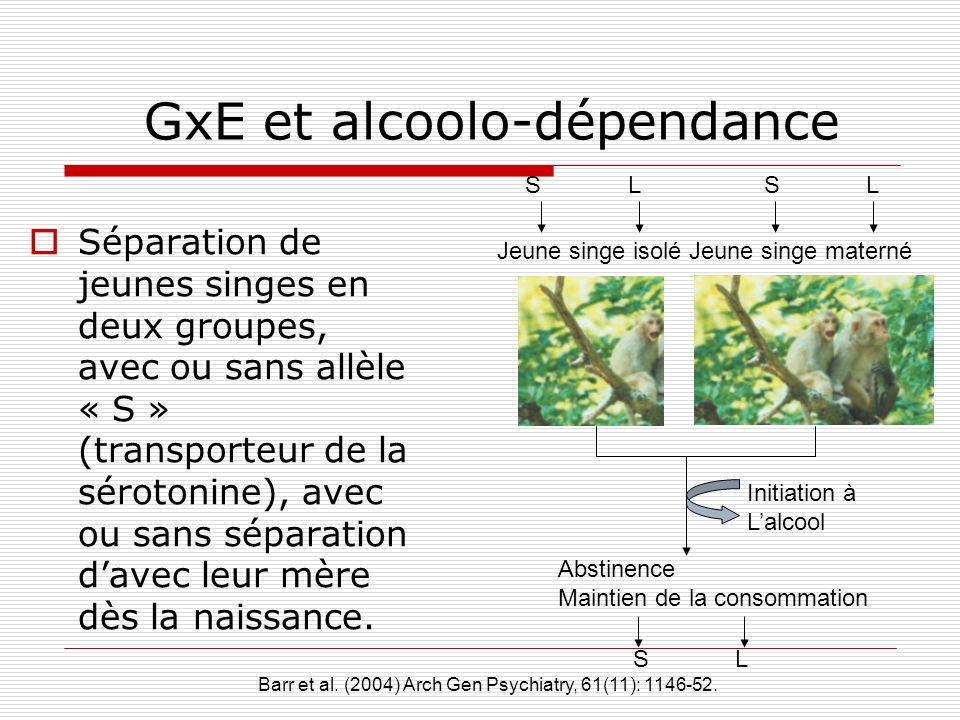 GxE et alcoolo-dépendance
