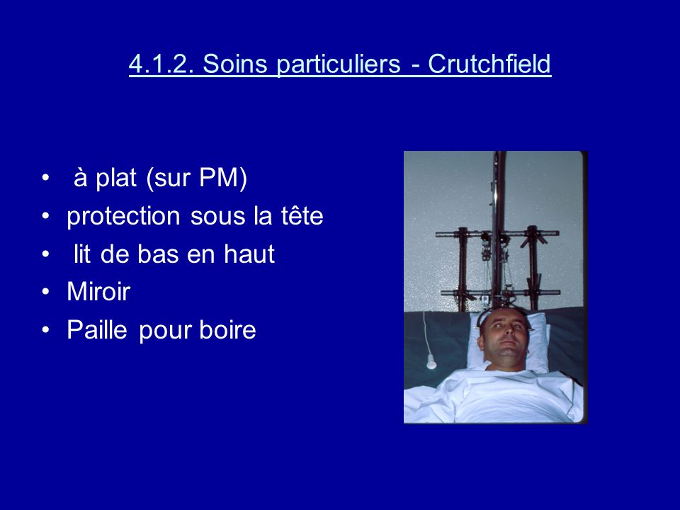4.1.2. Soins particuliers - Crutchfield