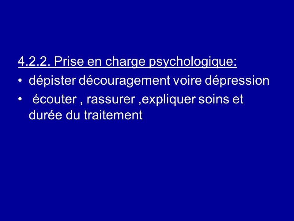 Prise en charge psychologique: