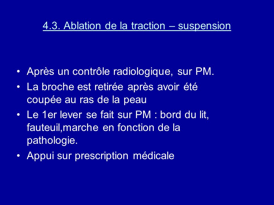 4.3. Ablation de la traction – suspension