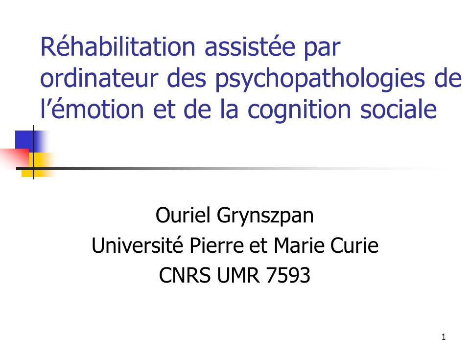 Ouriel Grynszpan Université Pierre et Marie Curie CNRS UMR 7593
