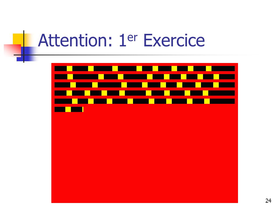 Attention: 1er Exercice