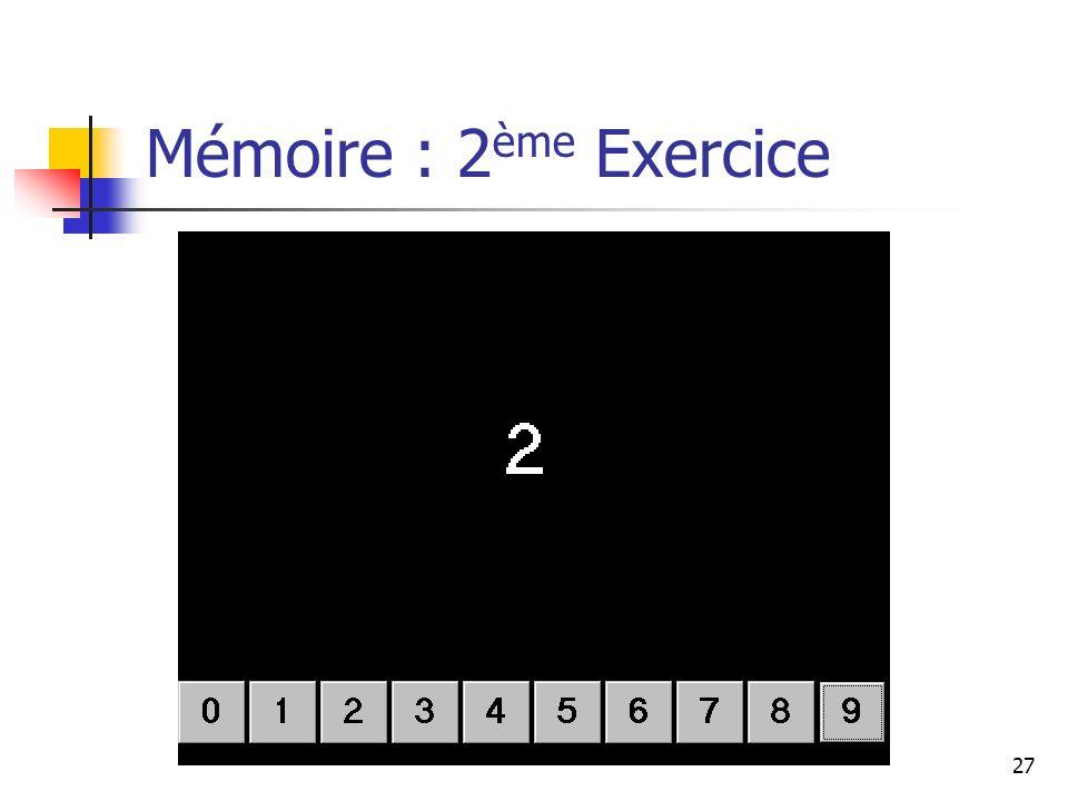 Mémoire : 2ème Exercice