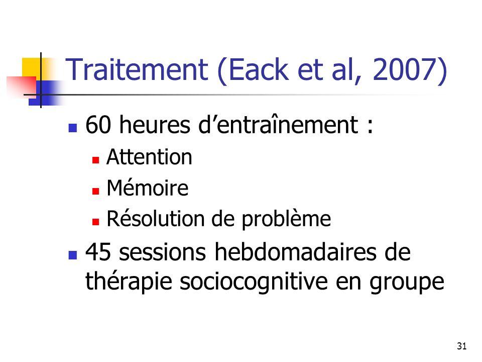 Traitement (Eack et al, 2007)