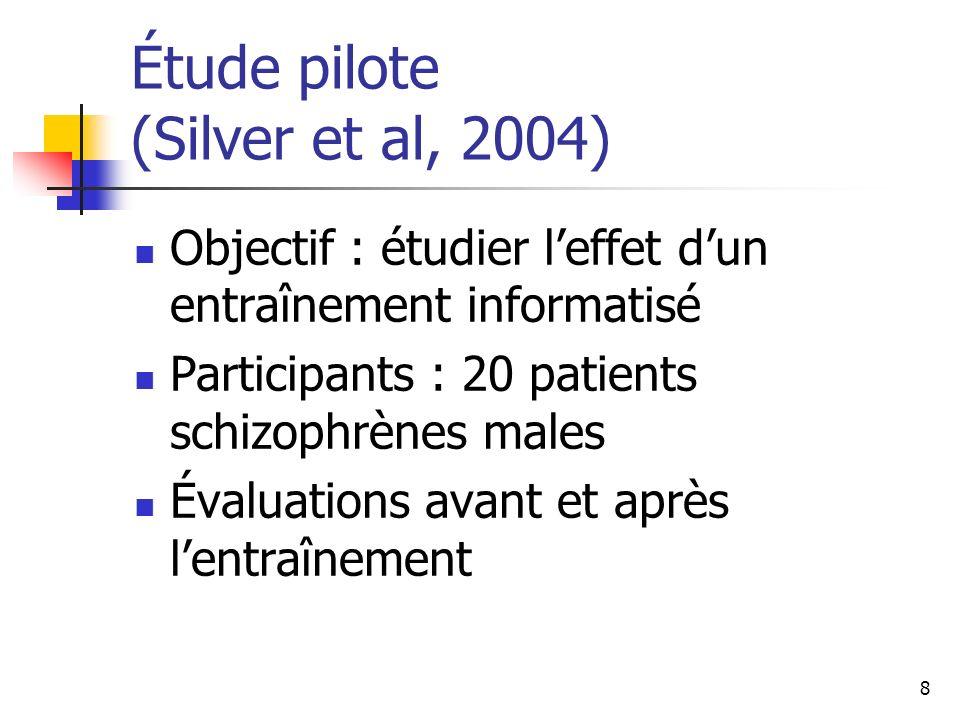 Étude pilote (Silver et al, 2004)