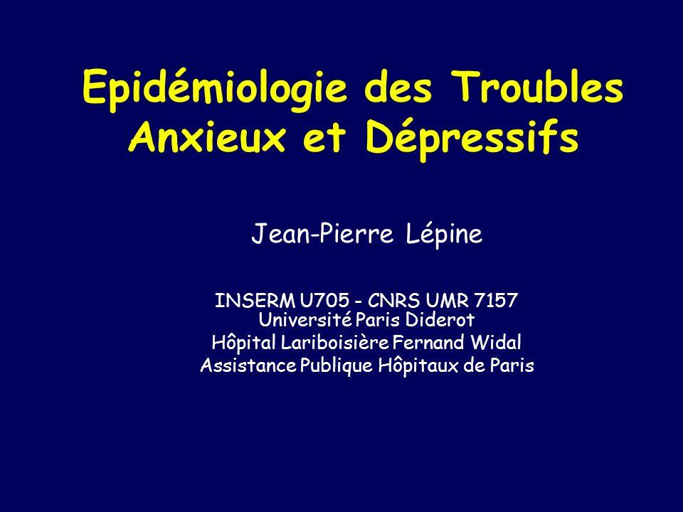 Epidémiologie des Troubles Anxieux et Dépressifs