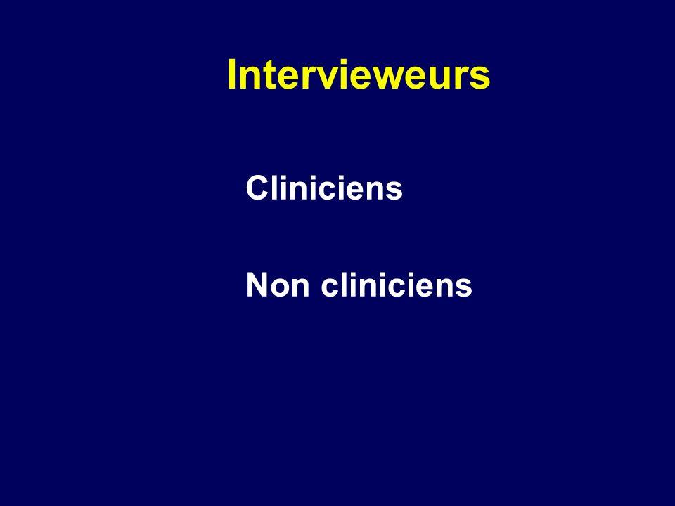Cliniciens Non cliniciens