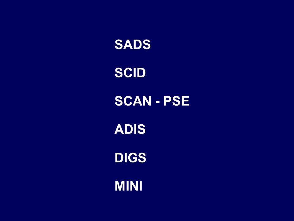 SADS SCID SCAN - PSE ADIS DIGS MINI