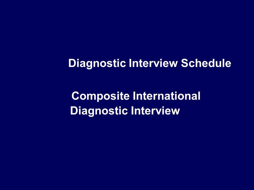 Diagnostic Interview Schedule