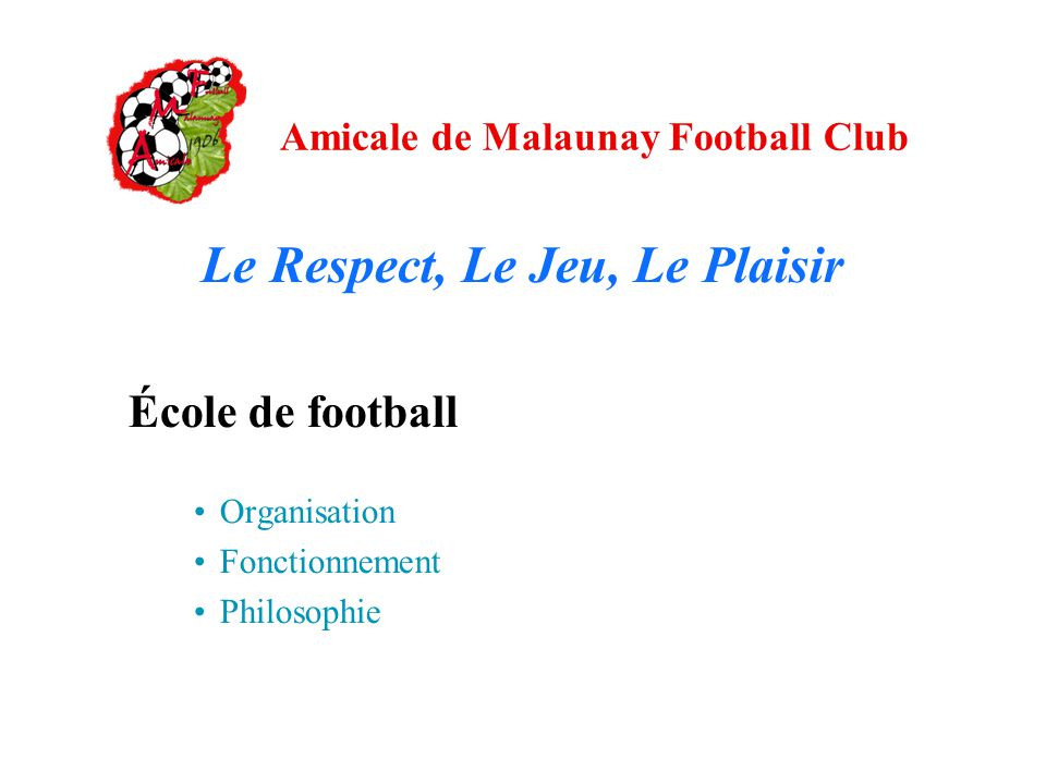 Gut gemocht Amicale de Malaunay Football Club - ppt télécharger JU56