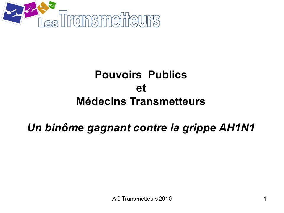 Médecins Transmetteurs Un binôme gagnant contre la grippe AH1N1