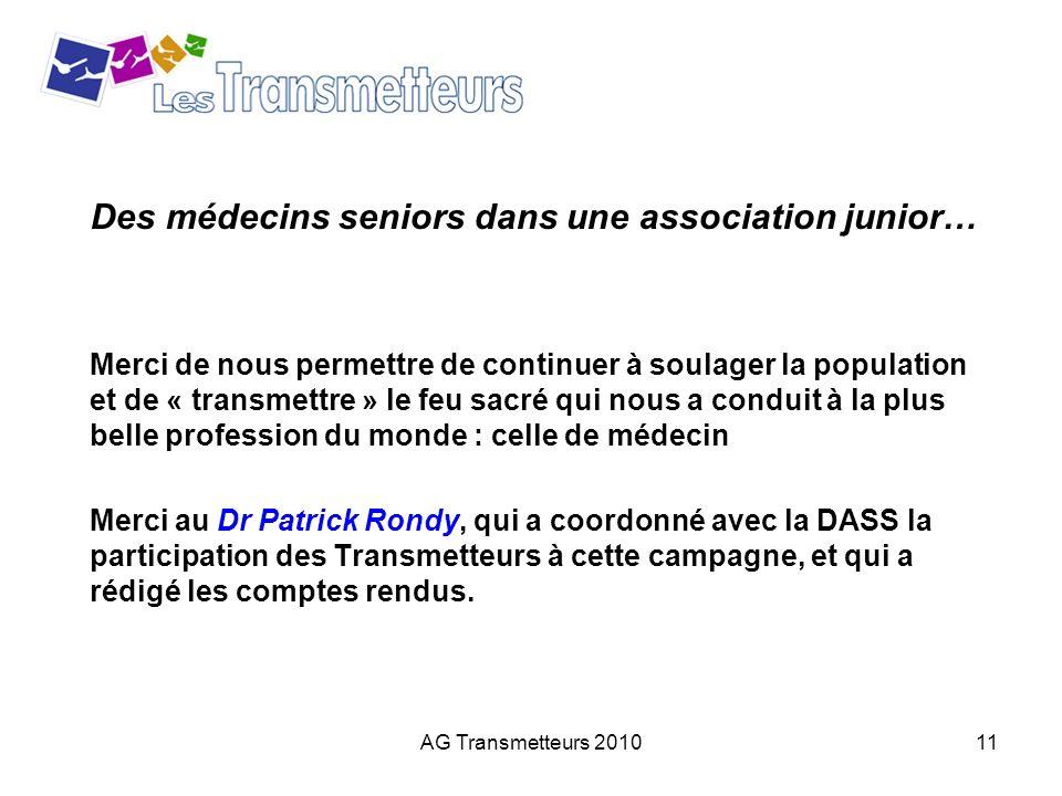 Des médecins seniors dans une association junior…