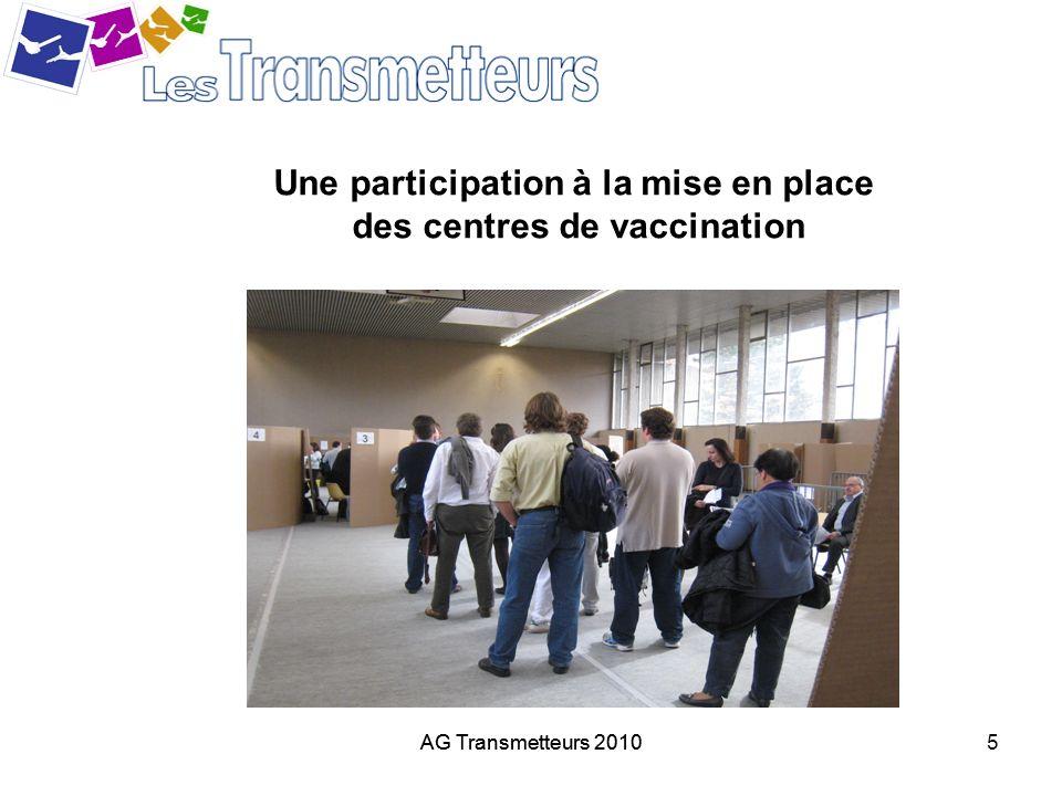 Une participation à la mise en place des centres de vaccination