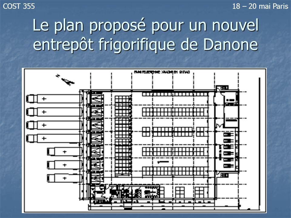 Le plan proposé pour un nouvel entrepôt frigorifique de Danone
