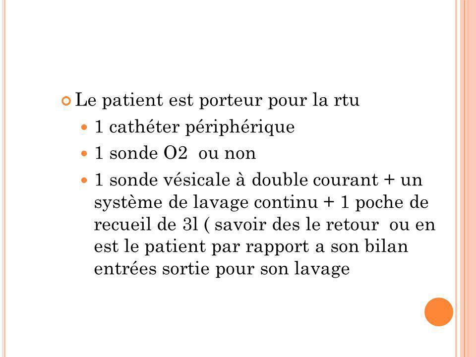 Le patient est porteur pour la rtu