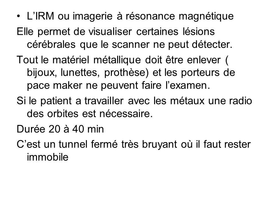 L'IRM ou imagerie à résonance magnétique