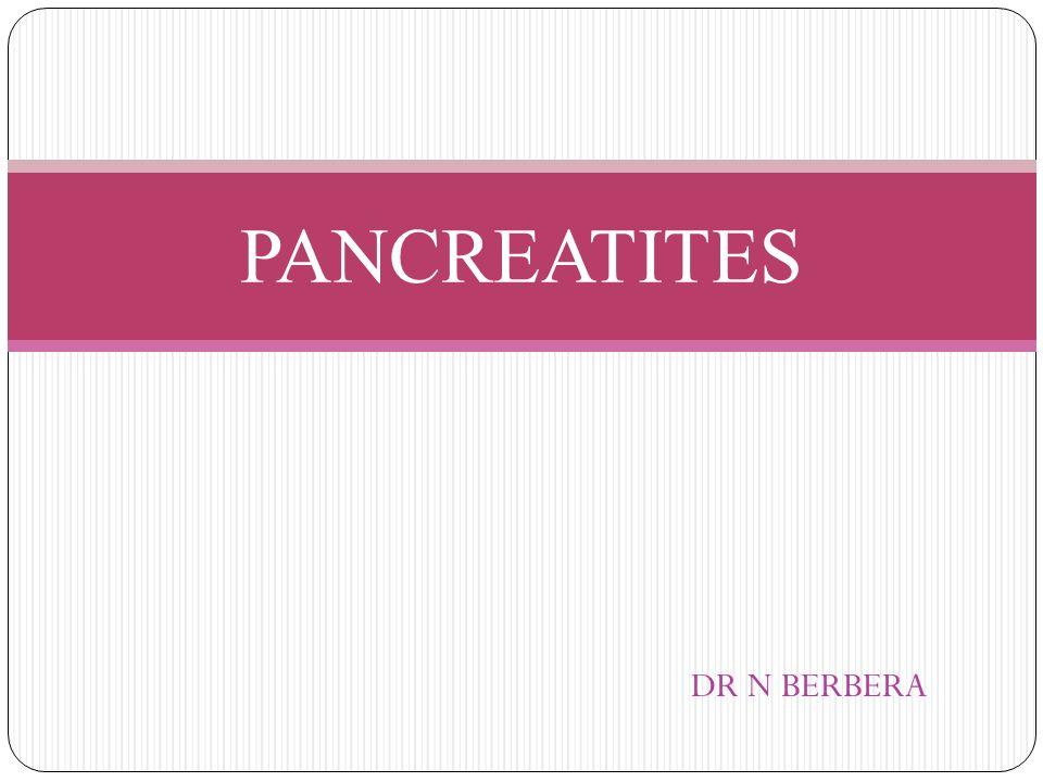 PANCREATITES DR N BERBERA