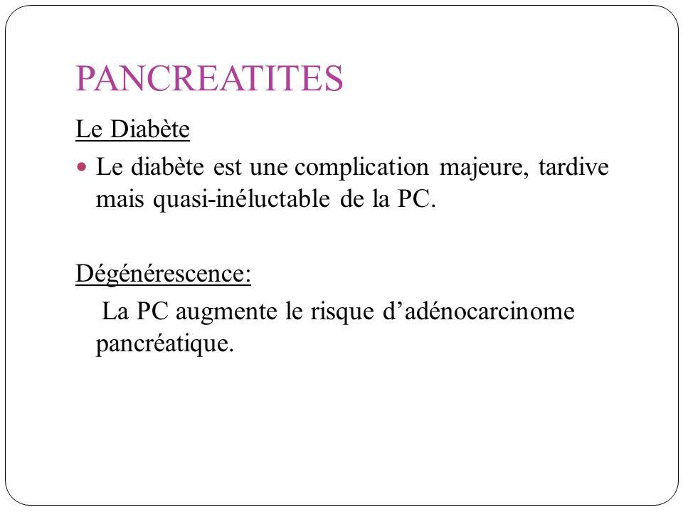 PANCREATITES Le Diabète