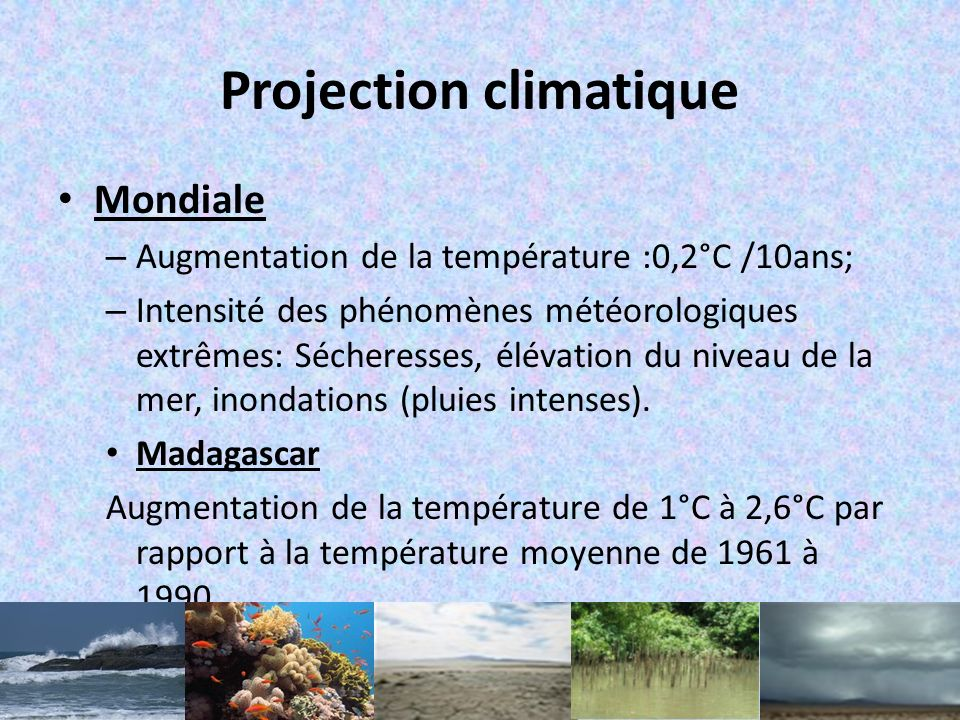 Projection climatique