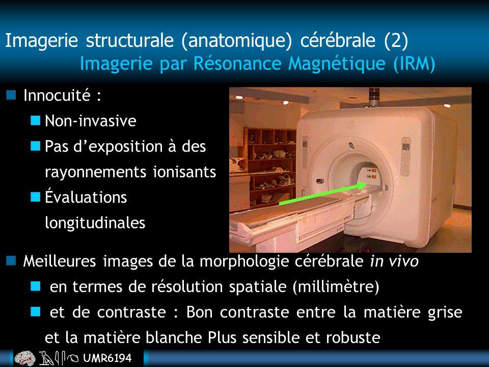 Imagerie structurale (anatomique) cérébrale (2)