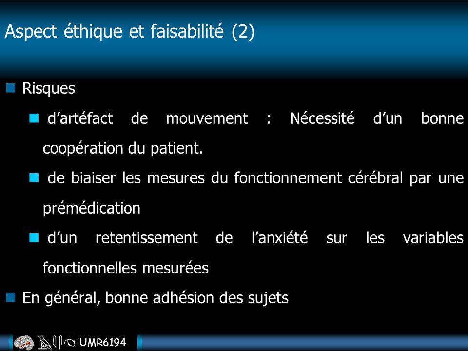 Aspect éthique et faisabilité (2)