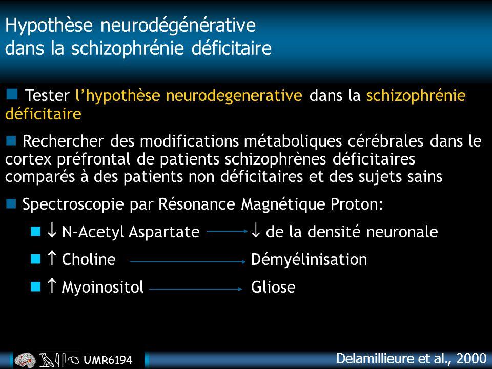 Hypothèse neurodégénérative dans la schizophrénie déficitaire