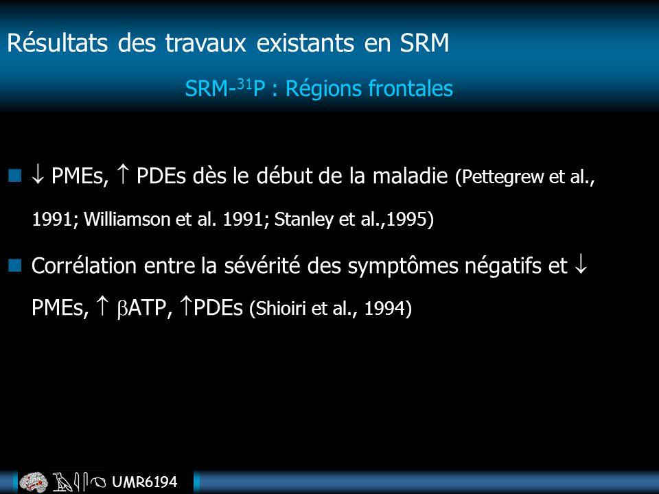 SRM-31P : Régions frontales