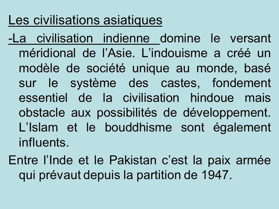 Les civilisations asiatiques