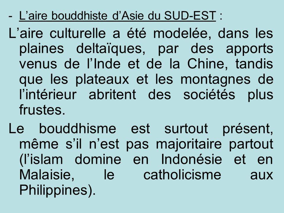 L'aire bouddhiste d'Asie du SUD-EST :