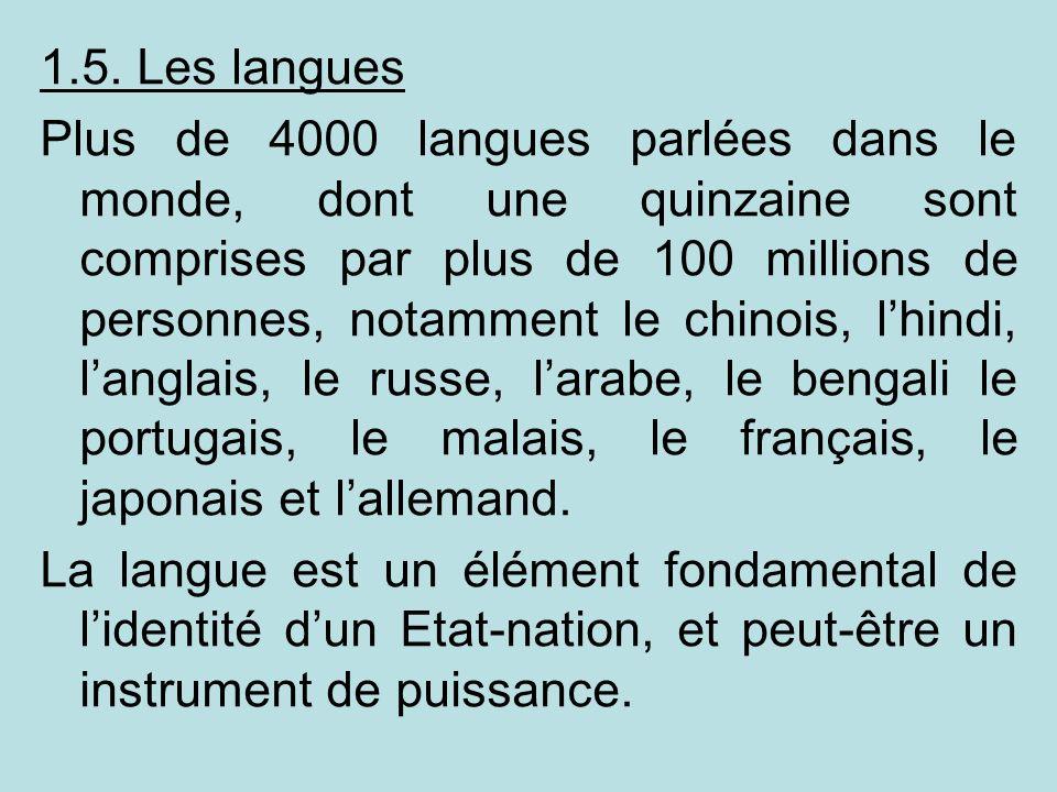 1.5. Les langues