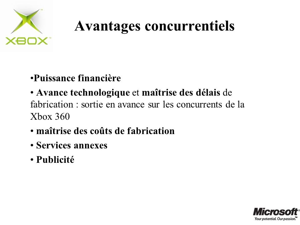 Avantages concurrentiels