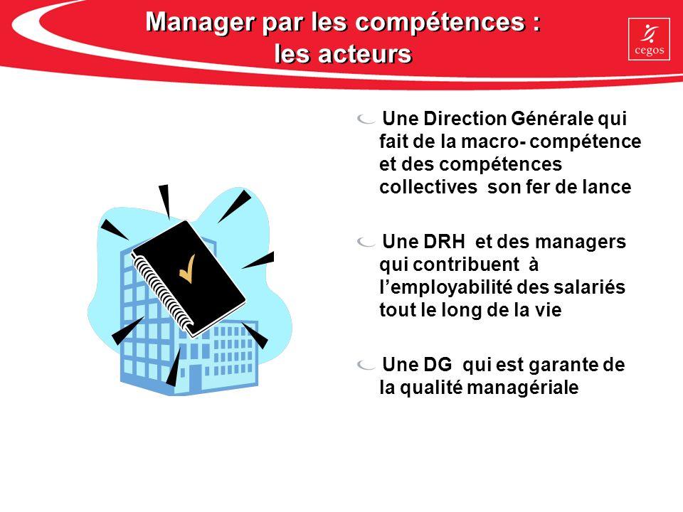 Manager par les compétences : les acteurs