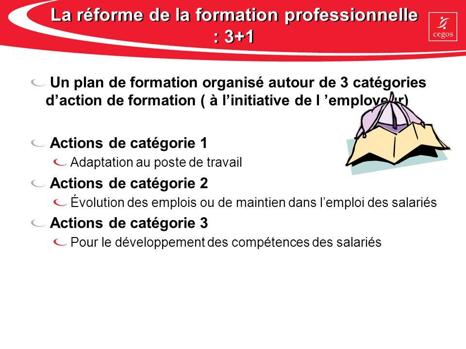 La réforme de la formation professionnelle : 3+1