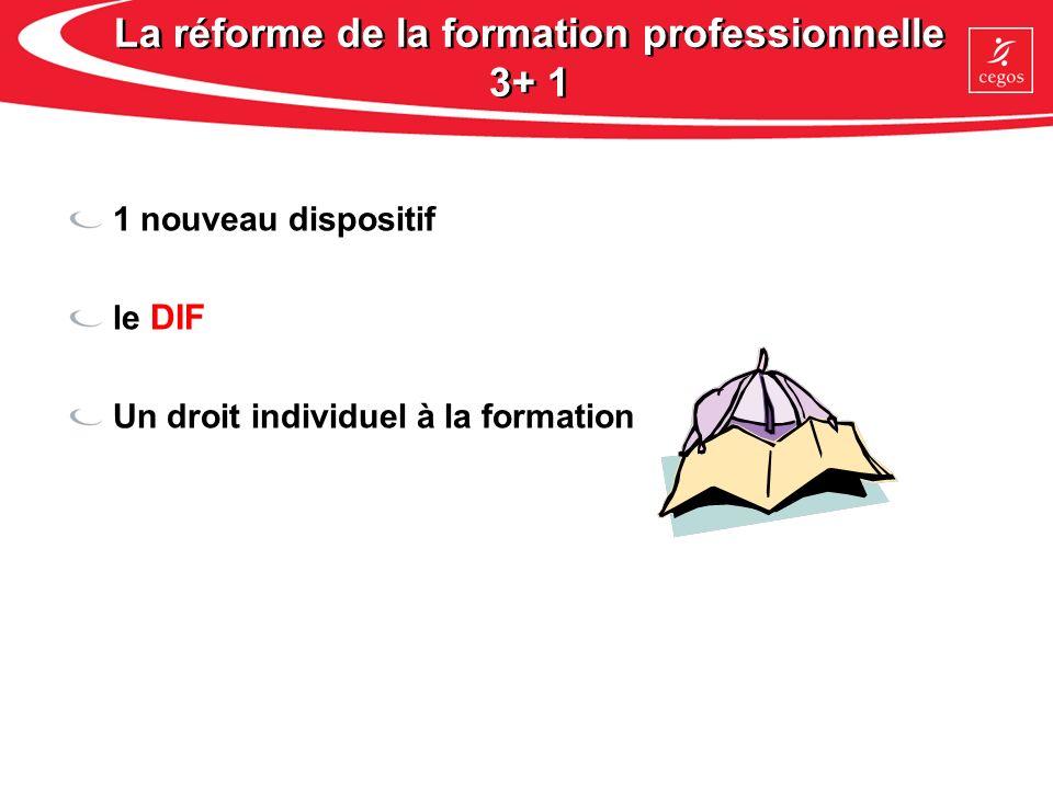 La réforme de la formation professionnelle 3+ 1