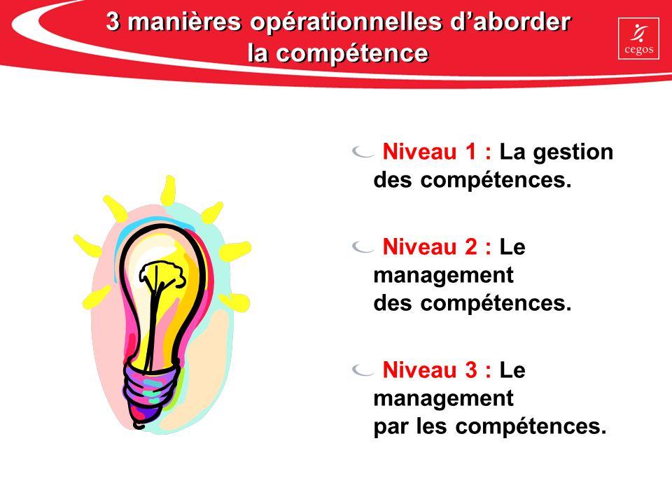 3 manières opérationnelles d'aborder la compétence