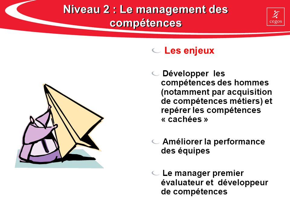 Niveau 2 : Le management des compétences