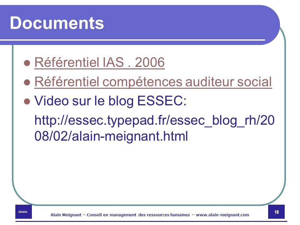 Documents Référentiel IAS . 2006