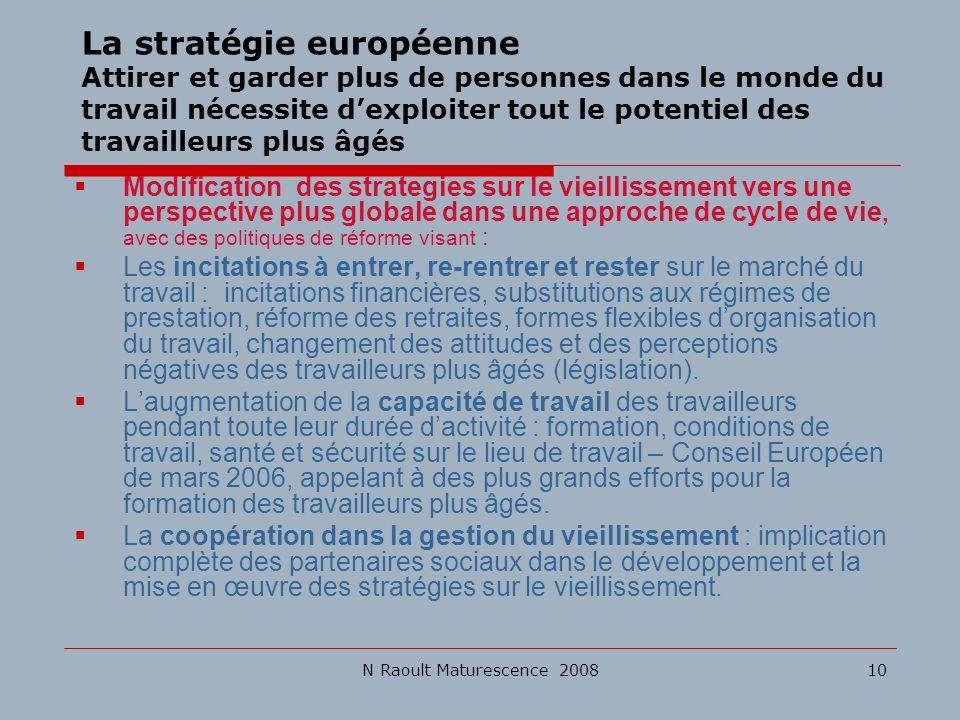 La stratégie européenne Attirer et garder plus de personnes dans le monde du travail nécessite d'exploiter tout le potentiel des travailleurs plus âgés
