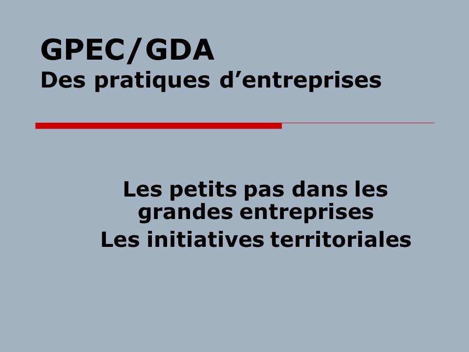 GPEC/GDA Des pratiques d'entreprises