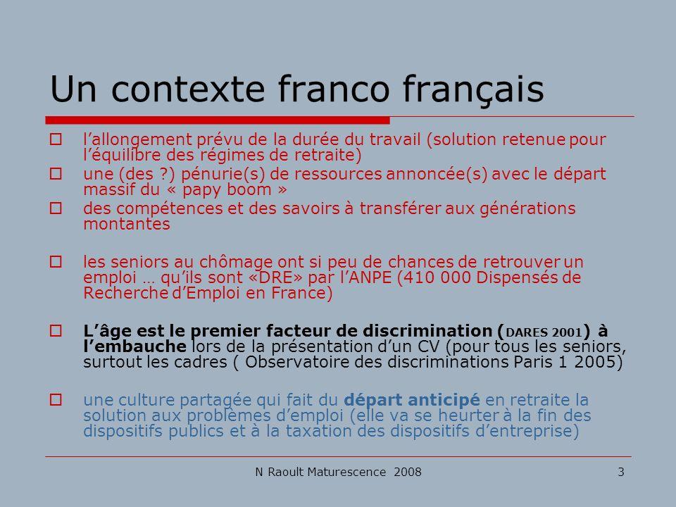 Un contexte franco français