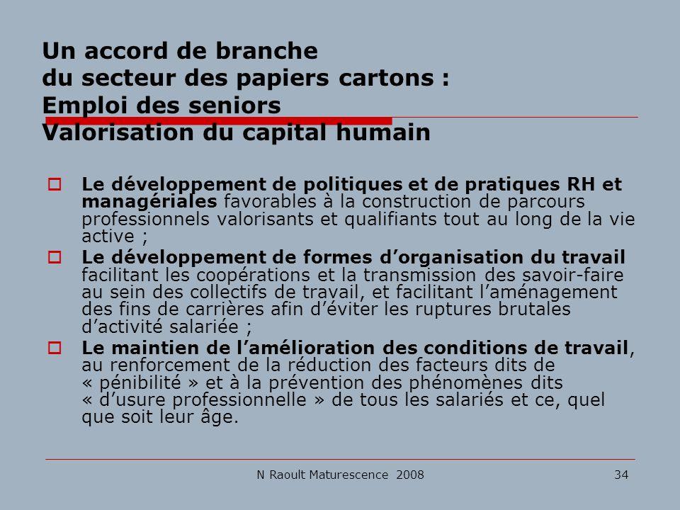 Un accord de branche du secteur des papiers cartons : Emploi des seniors Valorisation du capital humain
