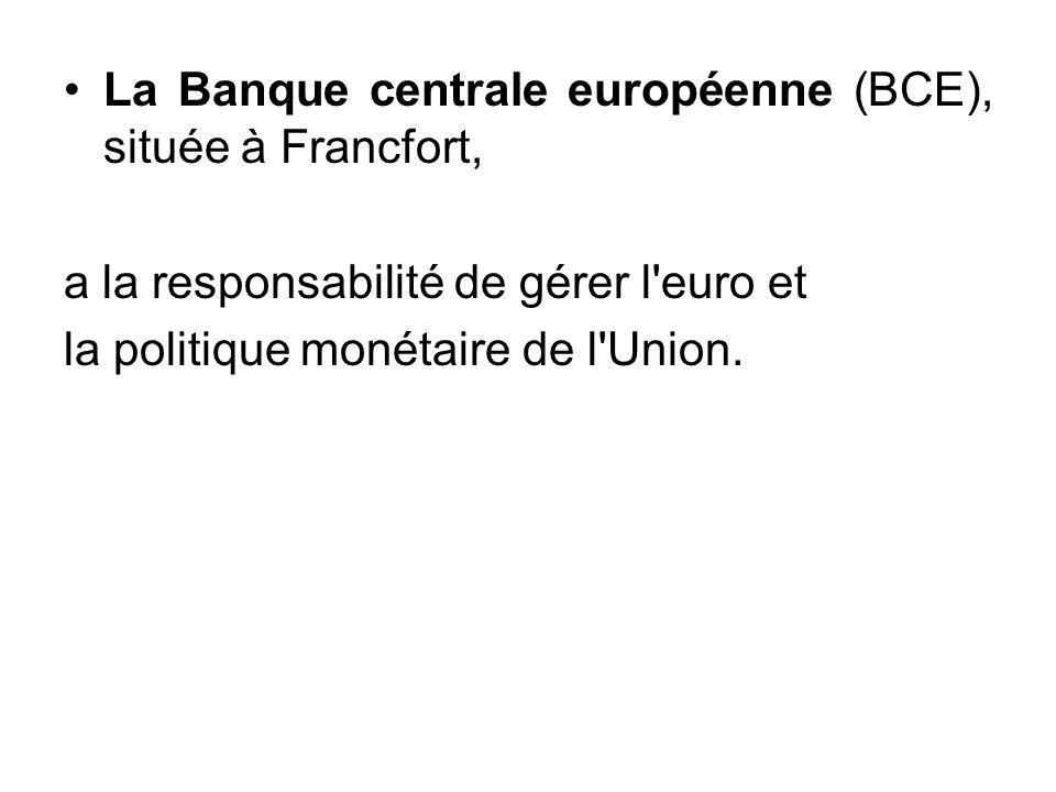 La Banque centrale européenne (BCE), située à Francfort,