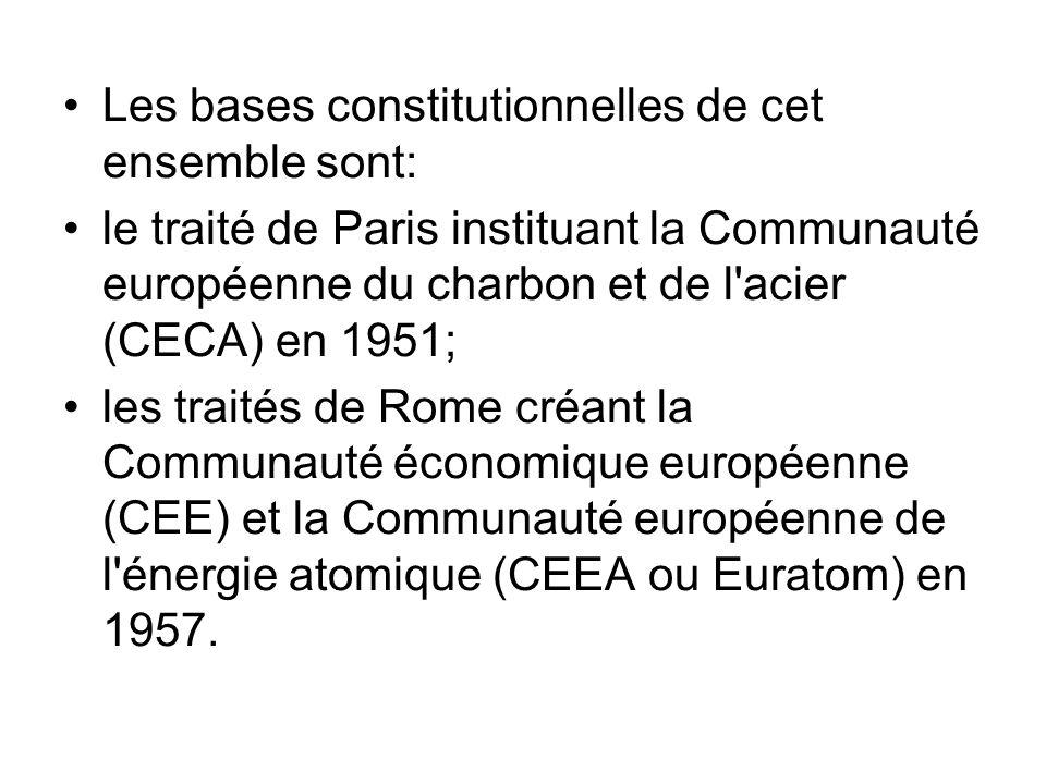 Les bases constitutionnelles de cet ensemble sont:
