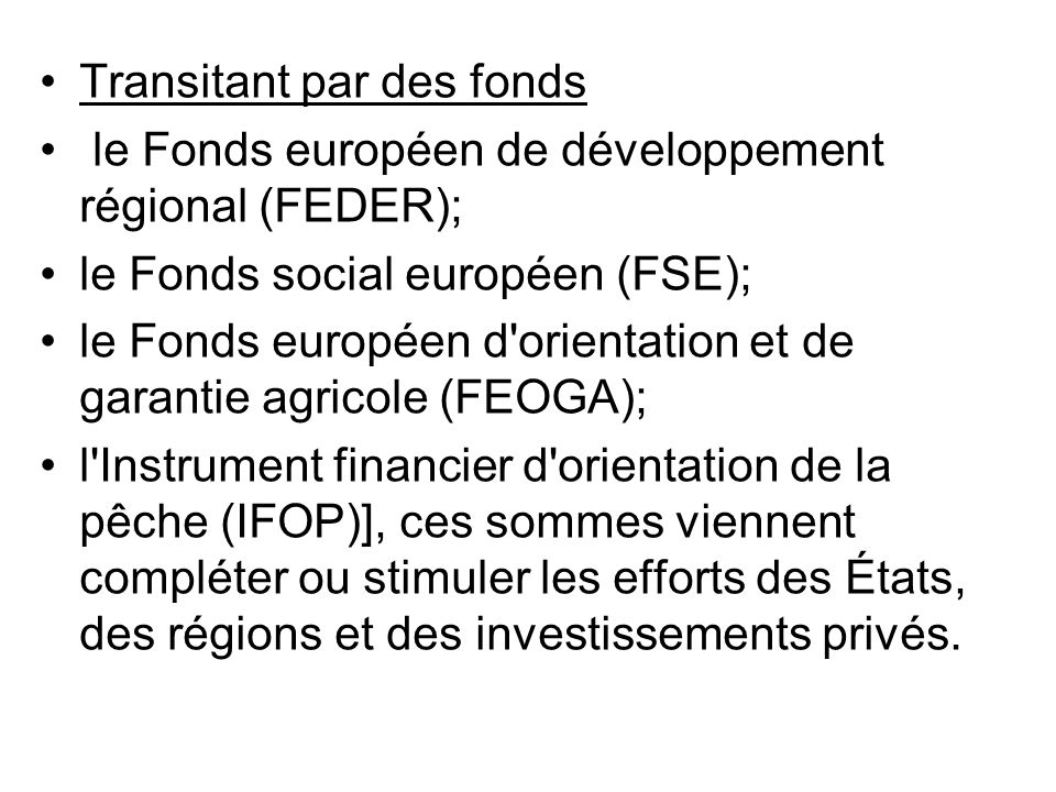 Transitant par des fonds