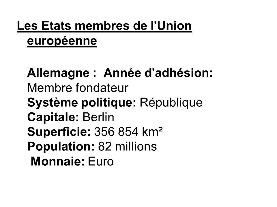 Les Etats membres de l Union européenne