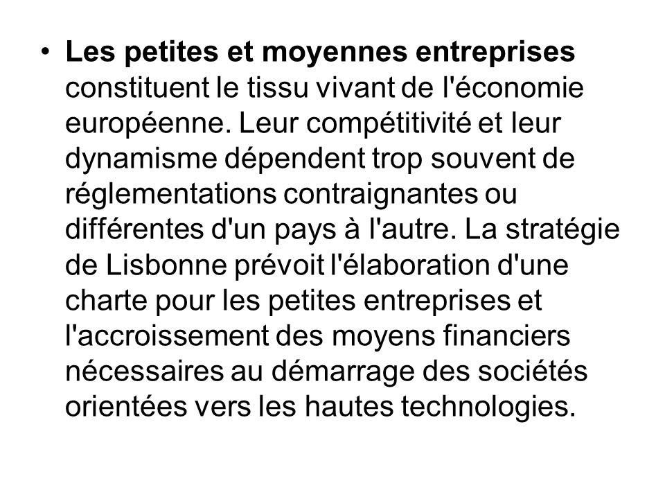 Les petites et moyennes entreprises constituent le tissu vivant de l économie européenne.