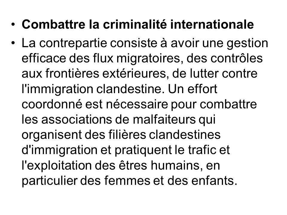 Combattre la criminalité internationale