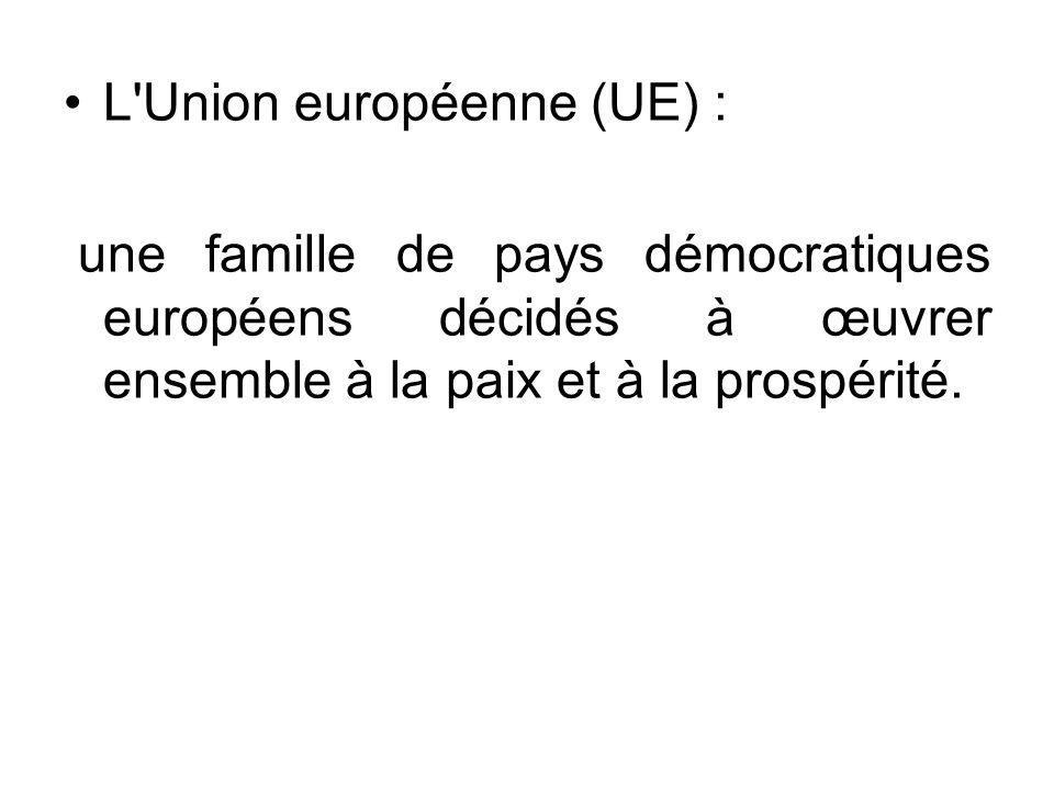 L Union européenne (UE) :